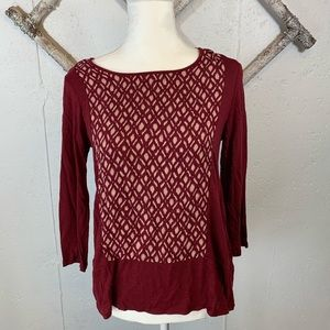 Lucky Brand geometric shirt